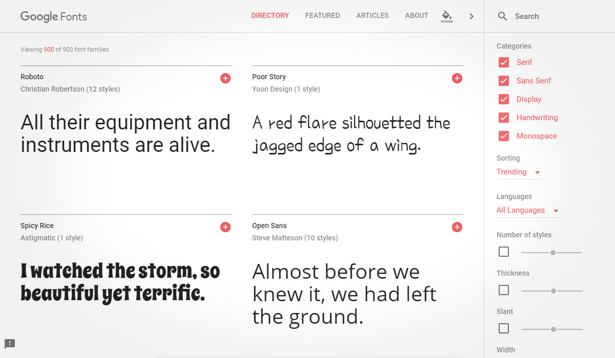 Kuula post editor - Google Fonts